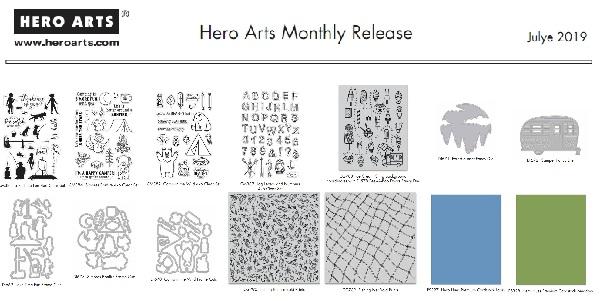 Hero Arts 2019 July Monthly Release